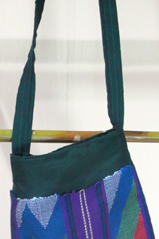 D-12 (C-23b) Small dark green hand-woven shoulder bag