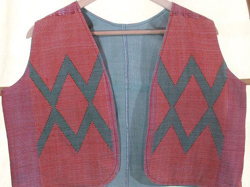 G-6 Women's hand-woven waistcoat.