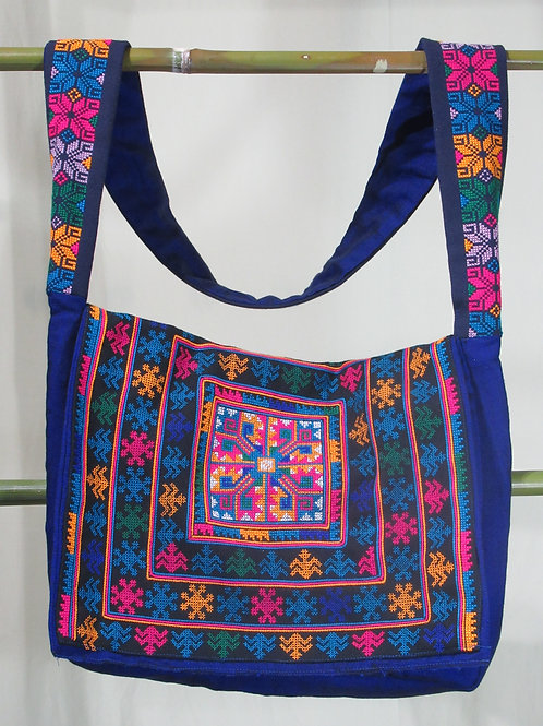 D-9 Large Fully-Lined and embroidered Shoulder bag