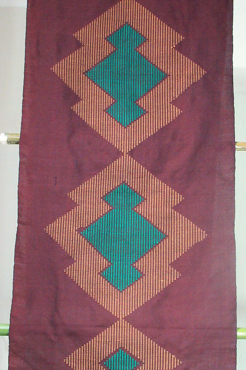 C-8 Brown and  green diamond patterned Scarf