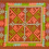 Thumbnail: F21.Small brownrectangle with inner squarein pink and green