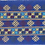 Thumbnail: F-24 Royal Blue oblong. Innerrectangle haslight blue, yellow and maroon motifs
