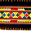 Thumbnail: E-66 long oblong with multi-coloured+++ pattern onblack background