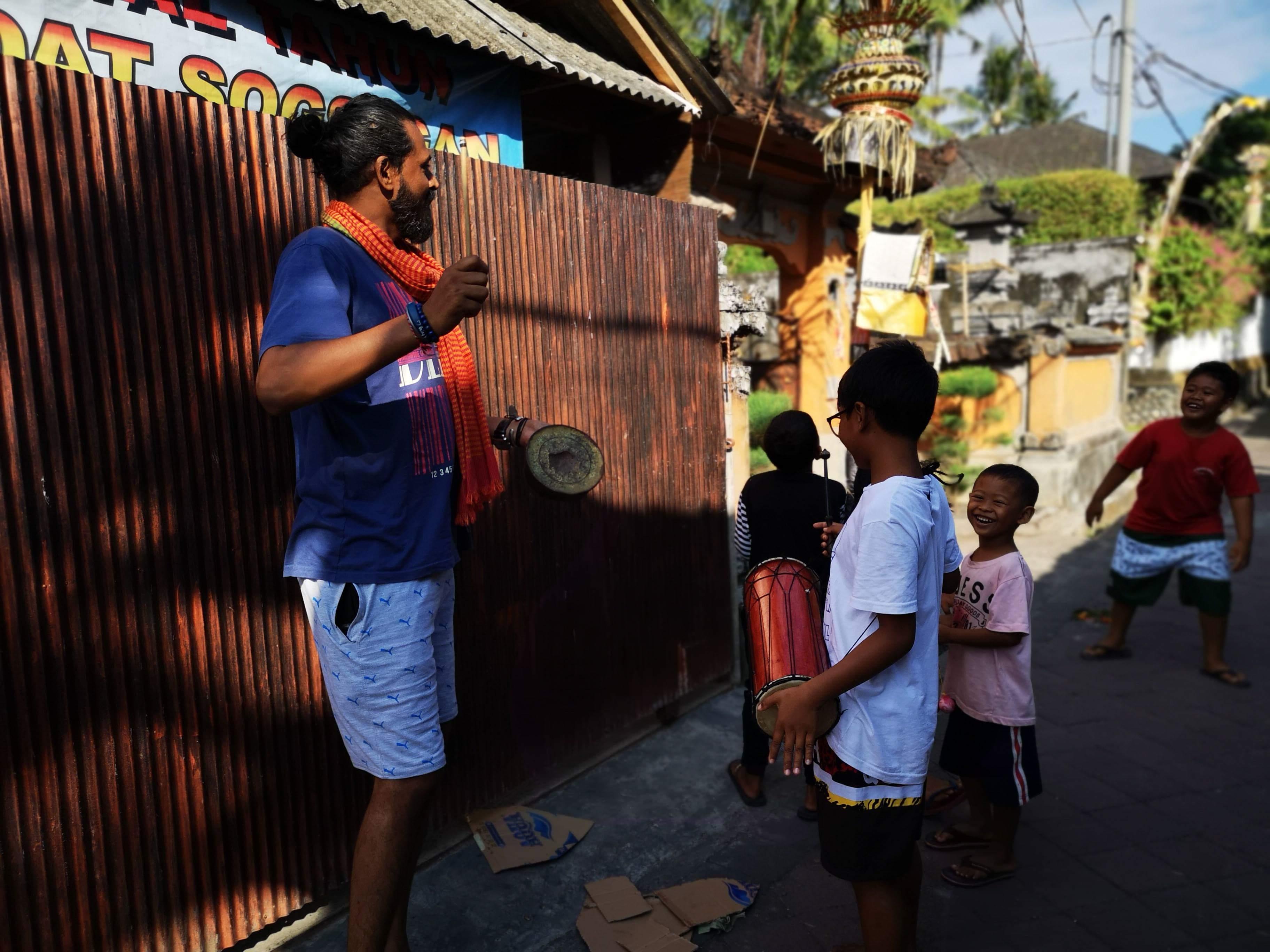 Kids Playing in Bali