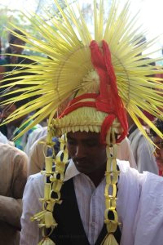 groom in rural india wedding