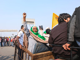 Farmers tractor march protest in Pictures