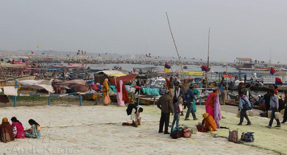 ganga ghat kumbh mela india