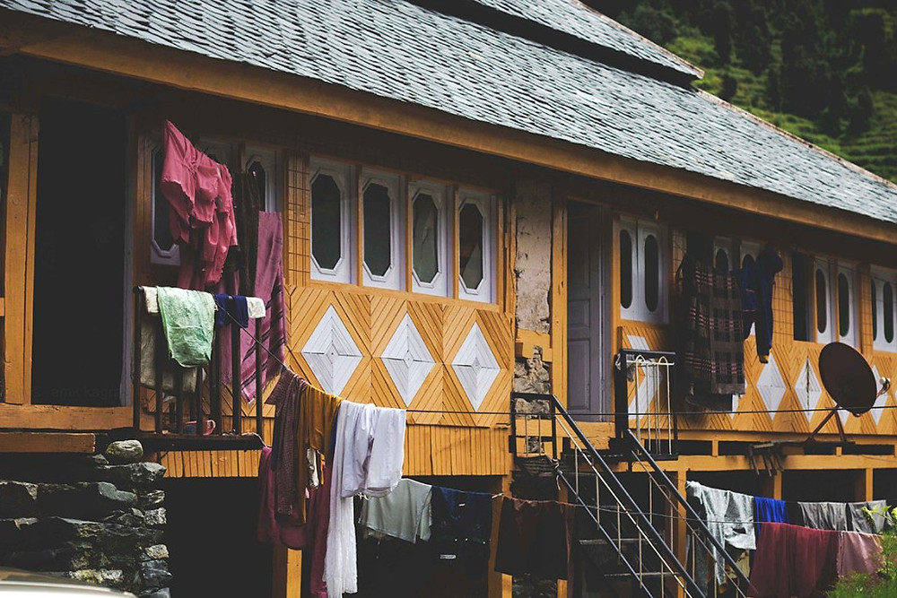 traditional mountain wooden home