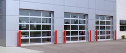 Commercial building hurricane door