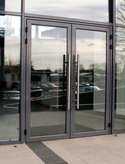 Commercial hurricane impact door