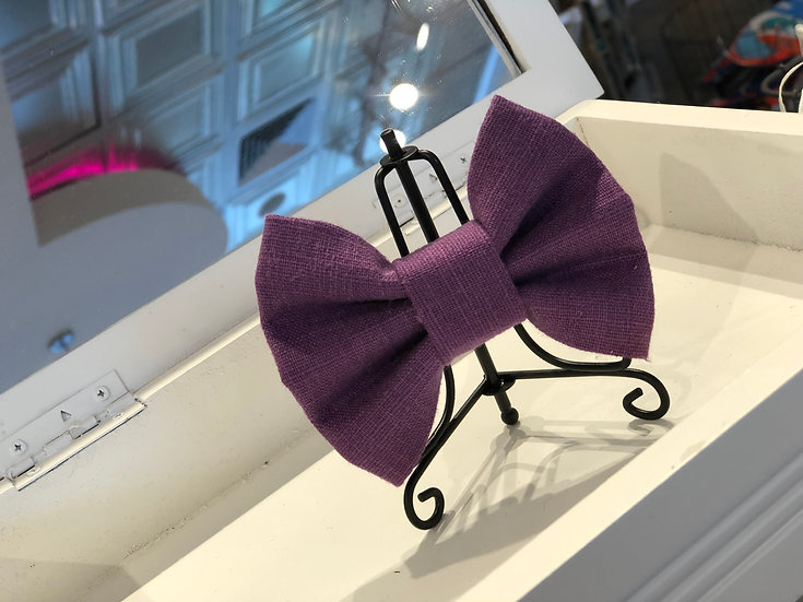 Hampton Plum Bow Tie/Flower