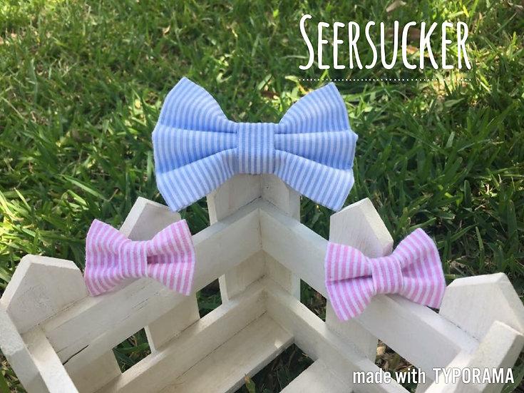 Seersucker Bow Tie/Flower