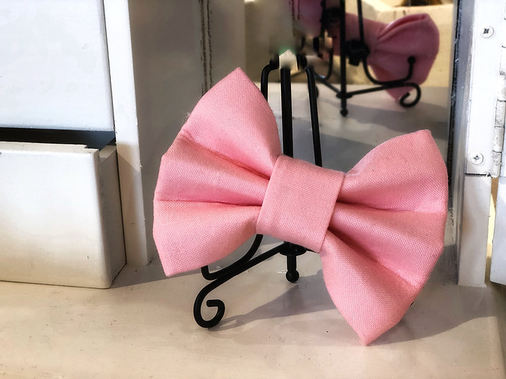 Hampton Pale Pink Bow Tie/Flower