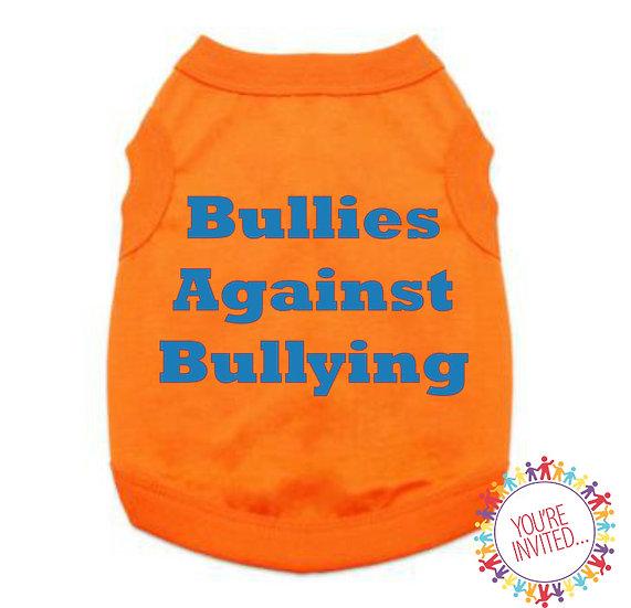 Bullies Against Bullying Dog T-shirt