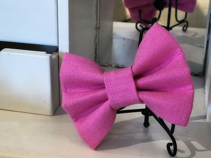 Hampton Bright Pink Bow Tie /Flower