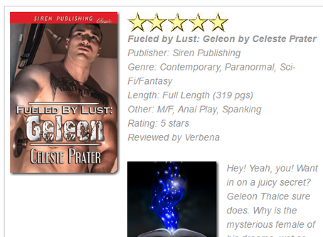 BOOK 9 OF THE FUELED BY LUST SERIES WINS OCT EROTIC ROMANCE BOOK OF THE MONTH FROM LASR!