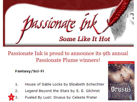 FUELED BY LUST: DRUSUS PLACES #3 IN TOP 5 FINALIST - PASSIONATE PLUME BOOK AWARD