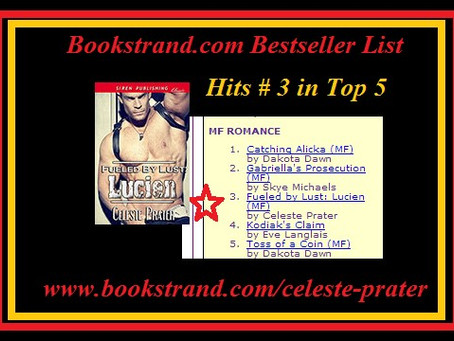 FUELED BY LUST: LUCIEN HITS #3 in TOP 5 BESTSELLER LIST