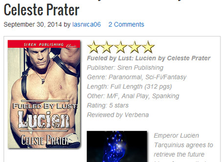LUCIEN WINS SEPT 2014 EROTIC BOOK OF THE MONTH