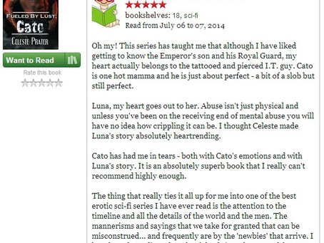 FOR THE LOVE OF BOOKS 5 STAR REVIEW - BOOK 3 CATO