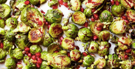 Pistachio & Pomegranate Brussel Sprouts