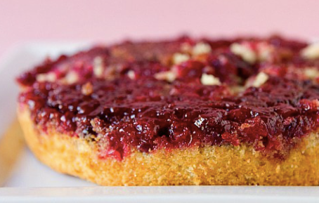 Perfect for the Holidays! | Upside Down Cranberry Cake