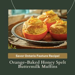 Orange-Baked Honey Spelt Buttermilk Muffins