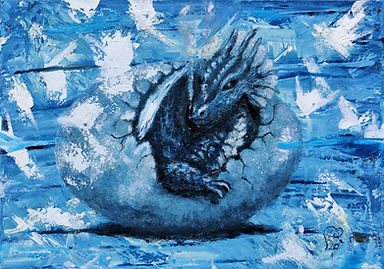 Hatching Blue Dragon by Luna Smith.jpg