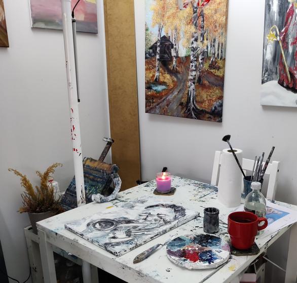 Glimpse of Art Studio
