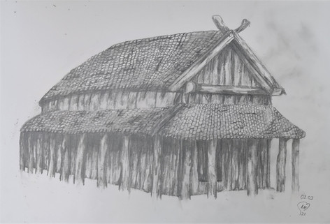 Viking house sketch by Luna Smith