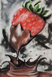 Chocolate covered strawberry by Lu