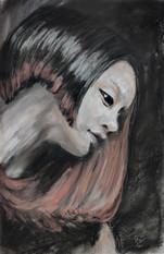 Asian Girl portrait by Luna Smith
