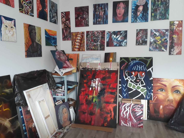 Art studio. The work place of Lu aka Lun
