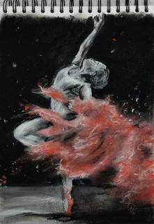 Ballerina - sketch in soft pastels by Luna Smith.jpg