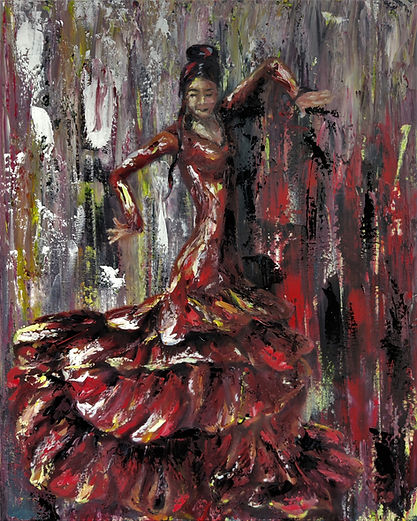 Flamenco Dancer by Luna Smith - the best art in the world