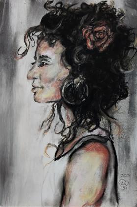 Woman's profile portrait by Luna Smith