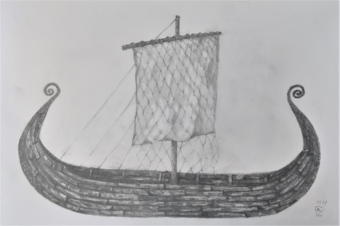 Viking lonboat by Luna Smith