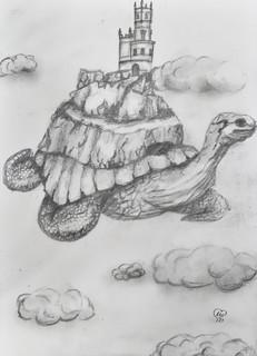 Fantast turtle floating island by Luna Smith - sketch.jpg