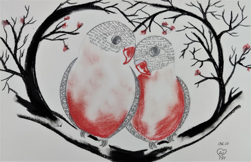 Love birds by Luna Smith