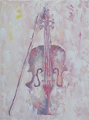 Pastel Violin by Luna Smith - the best art in the world