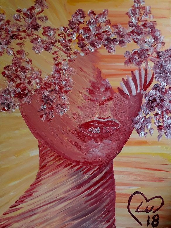 Red Women Nature by Luna Smith