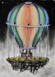 Flying Hot Baloon by Luna Smith - a fantasy island.jpg