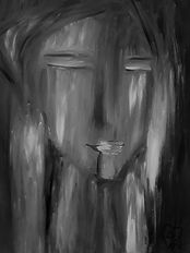 Memory by Luna Smith aka Lu, a surrealistic portrait