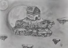 Floating fantasy island