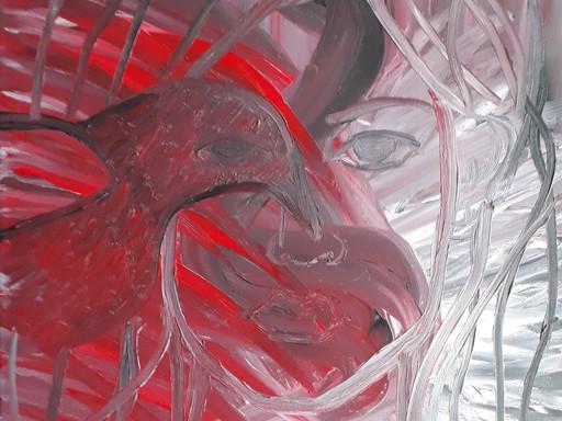 Work in progress, a surrealistic portrait by Lu