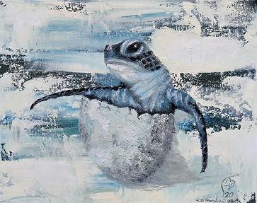 Hatching turtle by Luna Smith.jpg