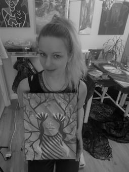 Happiness by Luna Smith - art studio