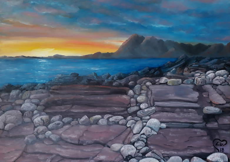 Sunset at Elgol Beach