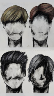 Male hair by Luna Smith