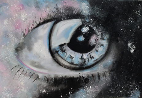 Galaxy eye by Luna Smith